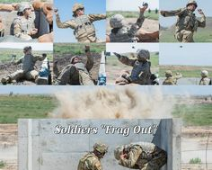 Soldiers from the Idaho Army National Guard conduct M67 grenade (frag out) qualification training during their annual training. Patriotic Poems, Army National Guard, Idaho, Soldiers, United States, Training, America, Work Out