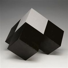 Artwork by Isamu Noguchi, Twin Sculpture (Model for Bayerische Vereinsbank, Munich), Made of marble