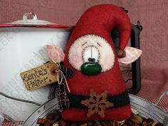 Helper Pattern di Elvin Santa 129 primitivo Doll Pattern