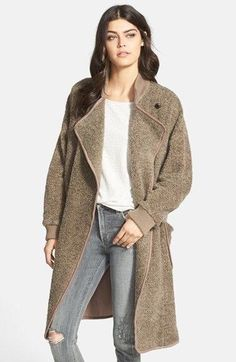 Plenty By TRACY REESE Pebble Taupe Cardigan Coat Jacket Anthropologie M / L $298 #Anthropologie #BasicCoat #Casual