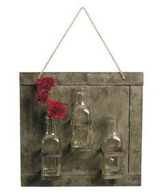 Another great find on #zulily! Hanging Glass Vases Outdoor Planters #zulilyfinds