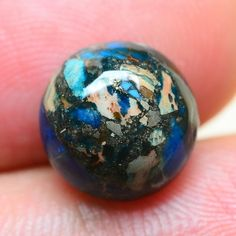 EXCELLENT! BLUE COPPER TURQUOISE GEMSTONE CABOCHON CAB 10X10X5MM