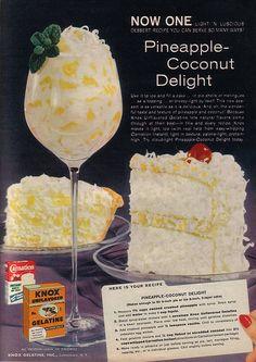 Knox Gelatin & Carnation Instant Milk Ad & Recipe 1960