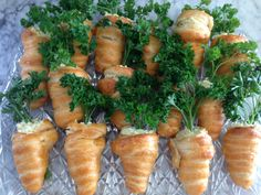 Crescent Carrots Stuffed with Egg Salad