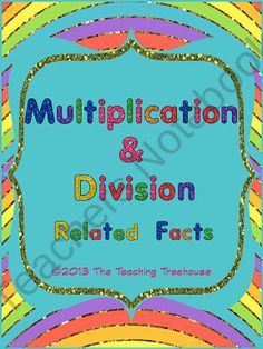 This worksheet pack focuses on multiplication and division facts and how they are related. The packet includes fact family and mixed practice worksheets. Included are answer keys and colored and black & white versions. Aligned to Common Core Standards. $