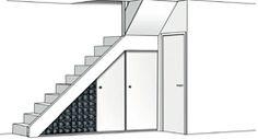 1000 images about ruimte onder de trap on pinterest nooks sliding doors a - Etagere escalier conforama ...