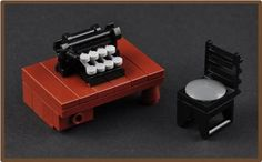 The Typewriter 2 – Front (H. P. Lovecraft's Study) | ReBrick | From LEGO Fan To LEGO Fan
