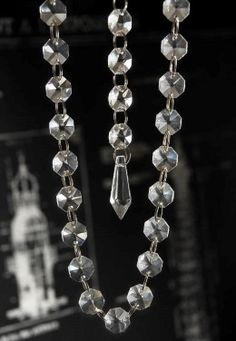 Hanging Crystal Garland - to be draped over birch brances