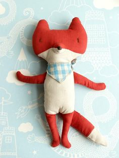 Fox stuffed toy
