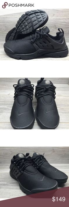 Nike Air Presto Essential Black Mesh Running Shoes Nike Air Presto Essential  Mens 848187-011 511100fe82a0
