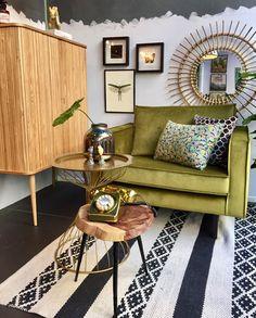 Home Stock groene velvet fauteuil Smart stoel