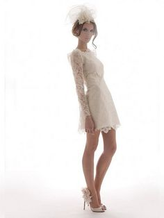 Absolutely loving the idea of a short wedding dress with statement shoes :)