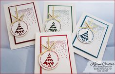 Video Do Lally Crafts Karen Coulter:  4 Cards in 10 Minutes  Stampin' Up!  Merriest Wishes, Merry Tags Framelits Dies https://www.youtube.com/watch?v=SwKVnlxWOgk
