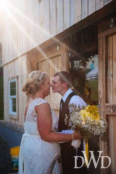 First looks are so sweet at Events at East 96 country barn wedding