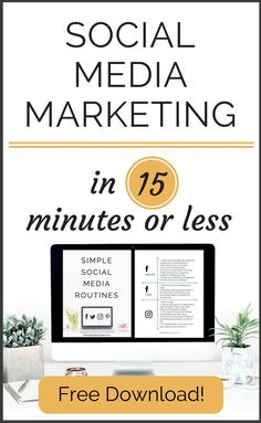I saved so much time by following these social media marketing routines!. Go download it now!