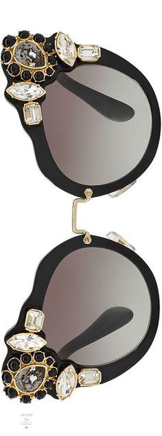 Miu Miu Gradient Embellished Dramatic Cat-Eye Sunglasses