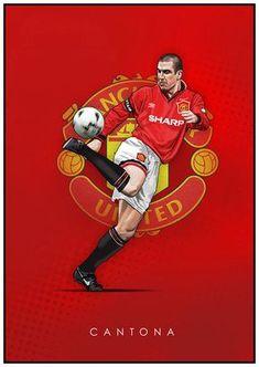 Manchester United Poster, Manchester United Wallpaper, Manchester United Legends, Manchester United Football, Football Themes, Best Football Team, Football Art, Football Players, Eric Cantona