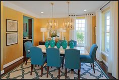 Gramercy Park model dining room by Miller & Smith- Clarksburg, MD Gramercy Park, Custom Carpet, New Home Communities, New Home Builders, Real Estate Development, New Homes For Sale, Dining Table, Dining Room, Home Buying