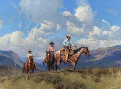 """North Fork Country"", oil, 36"" x 48"", Bill Anton western art"