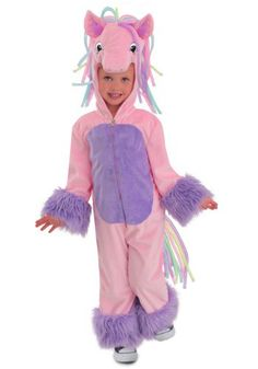 This Girlu0027s Rainbow Pony Costume is a cute look that will have your girl ready to  sc 1 st  Pinterest & A Quick Easy and Inexpensive DIY Kids Horse Costume | Pinterest ...