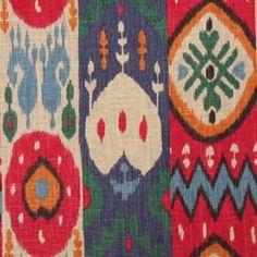 Kachina Garden Ikat Print Drapery Fabric by Richloom Platinum Fabrics - Drapery Fabrics at Buy Fabrics $26.95 per yard