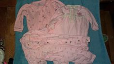 3 Baby Girl Outfits size 0 - 3 months Carters