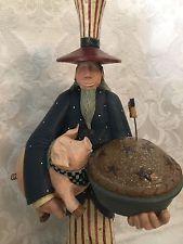 "Williraye Uncle Sam As American As Apple Pie Figurine Americana 4th Of July 16"""