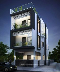 66 Beautiful Modern House Designs Ideas - Tips to Choosing Modern House Plans ? 66 Beautiful Modern House Designs Ideas - Tips to Choosing Modern House Narrow House Designs, Modern Exterior House Designs, Modern House Plans, Modern House Design, Building Elevation, Building Exterior, House Elevation, Front Elevation Designs, House Building