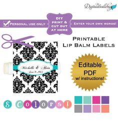Custom lip balm label with no seal x for 2 125 x 1 6875 label template