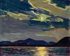 dappledwithshadow:  Hot Summer Moonlight, Tom Thomson 1915