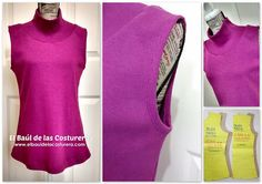 BC135 blouse sleeveless turtleneck   the trunk of seamstresses