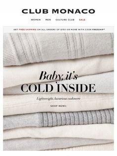 A chilly-office essential: cashmere sweaters - Club Monaco