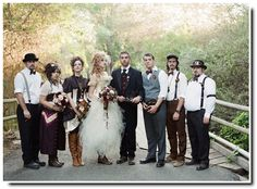 Steampunk Wedding~Such a fun theme for the bridal party to show off some creativity!!