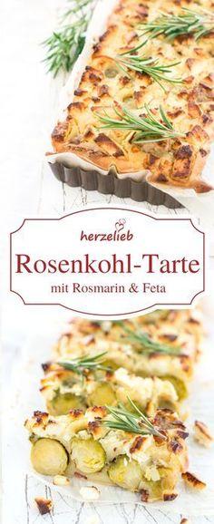 Rosenkohl in Bestform - Rezept für eine leckere Rosenkohl-Tarte mit Rosmarin und Feta.   Brussel sprouts tarte