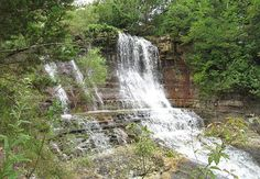 Geary Lake Falls - Geary County State Park, near Junction City, Kansas; a 35 foot high waterfall