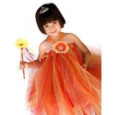 Orange Papaya Summer Tutu Halter Dress | LittleGirlStyle.com