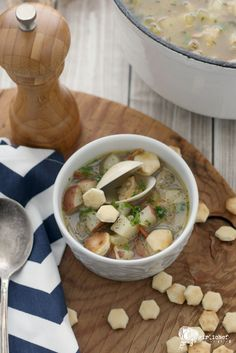 Rhode Island Clam Chowder #ProgressiveEats #Soup