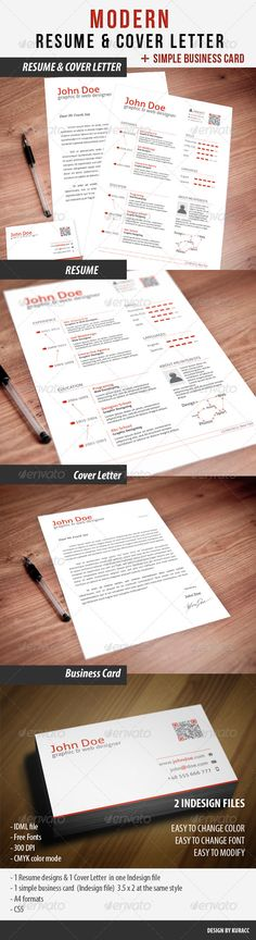 Clean Resume & Cover Letter & Business Card www.kickresume.com