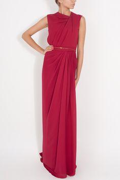 Georgette SL Gown