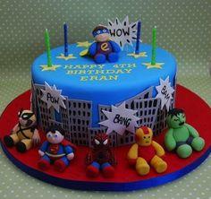 Baby Superhero Cake -- Baby Ironman is adorable!
