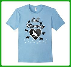 Mens Cat Mommy Cute Kitten Mother T-Shirt XL Baby Blue - Animal shirts (*Amazon Partner-Link)