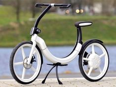 VW Electric Bike is a concept bike designed to fold up and fit in a trunk. No pedals.