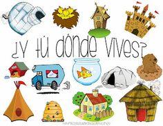 The Preschool cloud: La casa - The house Social Behavior, Life Journal, Preschool At Home, Amazing Buildings, African Animals, Habitats, Kindergarten, Homeschool, Classroom