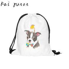 kai yunon Fashion Unisex Graffiti Backpacks 3D Printing Bags Drawstring Backpack 39cm*30cm Sep 14