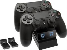 Venom Twin Docking Station for Sony Playstation 4 – Dual Charging Station for Controller / Gamepad Xbox 360, Playstation Move, Nintendo 3ds, Wii U, Playstation 4 Accessories, Ps4 Black, Led, All Video Games, Docking Station