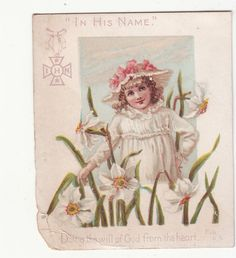 In His Name Doing The Will of God from The Heart Religious Victorian Card C1880s | eBay