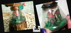 Jardín de duendes en miniatura. Pequeñito pero lleno de hermosos detalles. Escultura mixed media presentada sobre rodaja de madera, con detalles de frutos y hojas preservadas.  . #fairy_gardens - #fairies -  #jardín_de_hadas #gnome_houses  - #casas_de_duendes