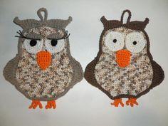 Free pattern crochet nice Owl photolder - coppia presine gufi (Mr. Gufo e Miss Guffetta!)