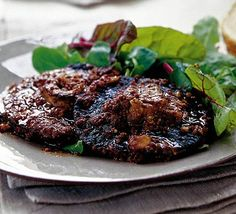 Devilled mushrooms   by Lesley Waters  Reduce oil.  Add balsamic glaze?