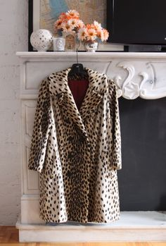 cheetah print coat...
